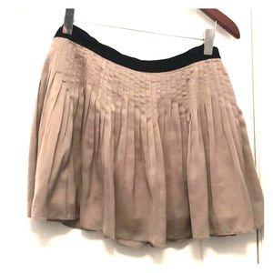 Elizabeth and James pleated silk skirt